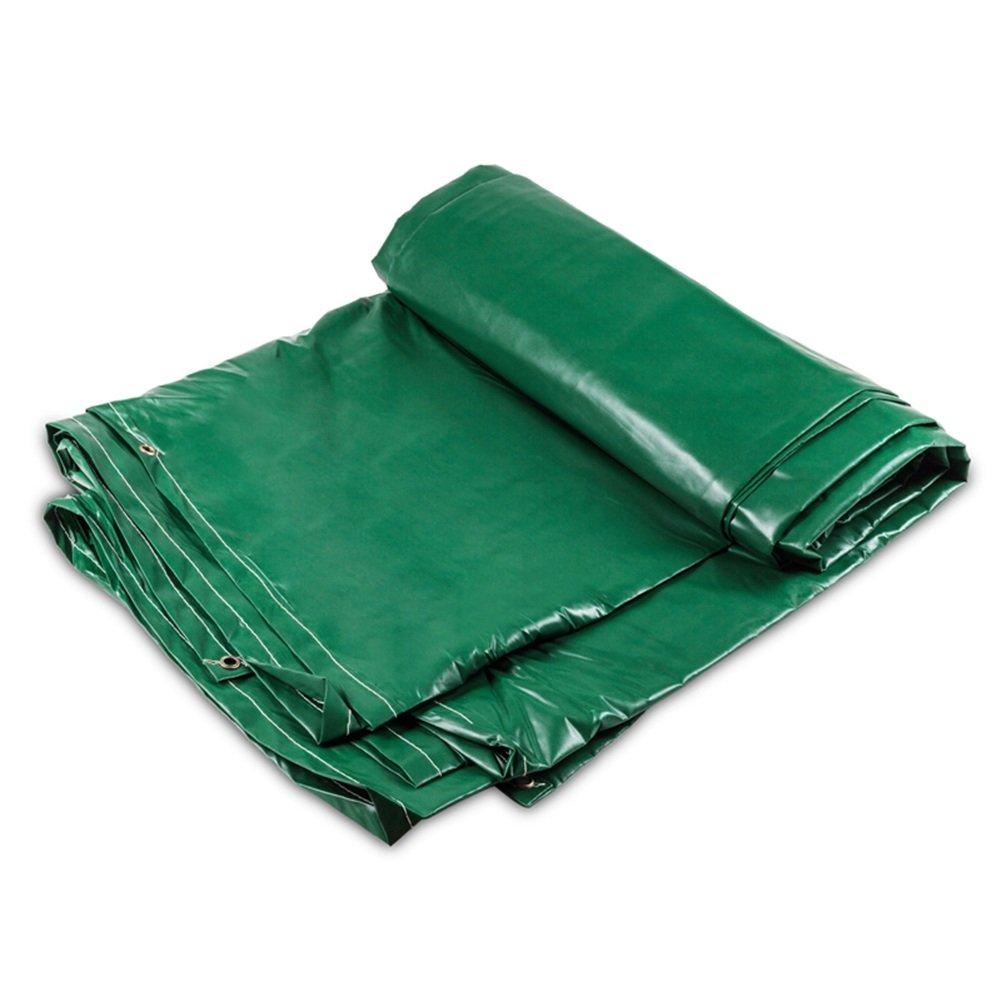 GLJ Verdichtetes Wasserdichtes Segeltuch, Regenschutztuch, Markisentuch, DREI Anti-Tuch, Plane, Plane, Sonnenschutzplane Plane (Farbe : Grün, größe : 3x4m)