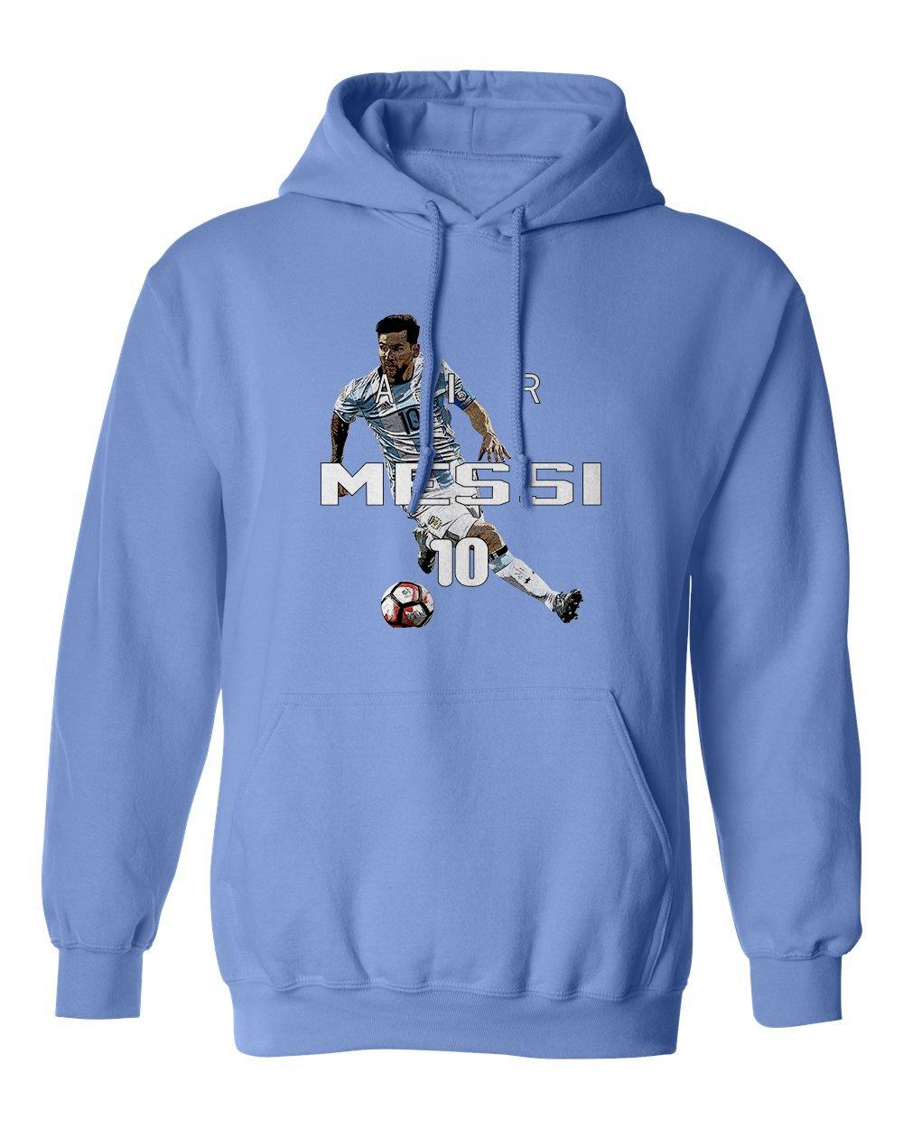 リオネルメッシアルゼンチンAir Soccerメンズパーカースウェットシャツ 3L カロライナブルー B075VCMLC6