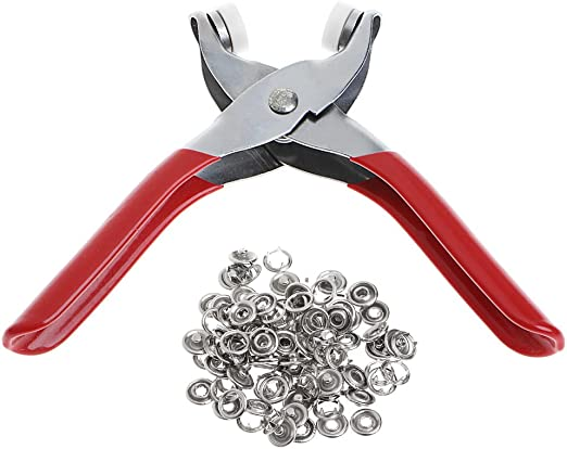 ZUIMEI Metal Prong Ring Snap Fasteners Press Studs Plier 9.5mm
