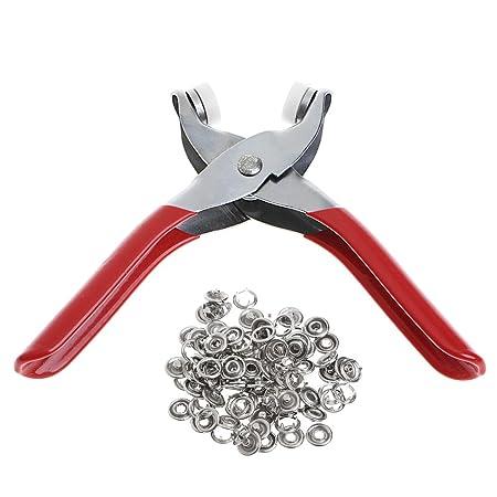 LLAni - Alicates de presión con anilla de metal 9,5 mm: Amazon.es ...
