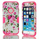iphone 6 Plus case,ipone 6 Cover,iPhone 6 hard case,Creativecase iphone 6 5.5 inch case cover with beautiful flowers 3in1 hybrid hard design soft back iphone 6 5.5 inch case cover for iphone 6 O1#P6