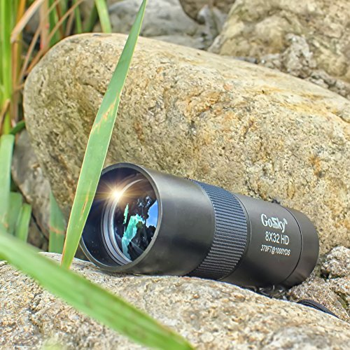 Gosky 8x32 Metal Monocular Telescope, HD Compact Monocular for Bird Watching Sports Travelling Camping Hiking Hunting and Outdoor Activities (Black Pocket Size) by Gosky (Image #5)