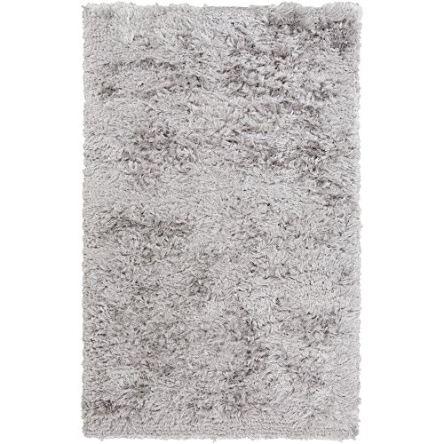 Surya Stealth STH-702 Shag Hand Woven 100% Polyester Light Gray 8' x 11' Area Rug