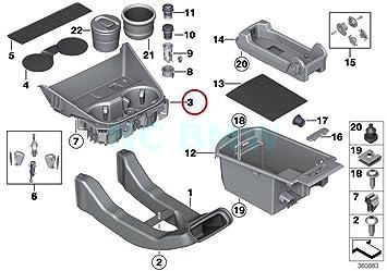 BMW Genuine Center Armrest Tray Console Storage Box E81 E82 E87 E88 51167140617