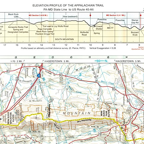 ATC Maps 5 and 6: Maryland and The Catoctin Trail One Color One Size