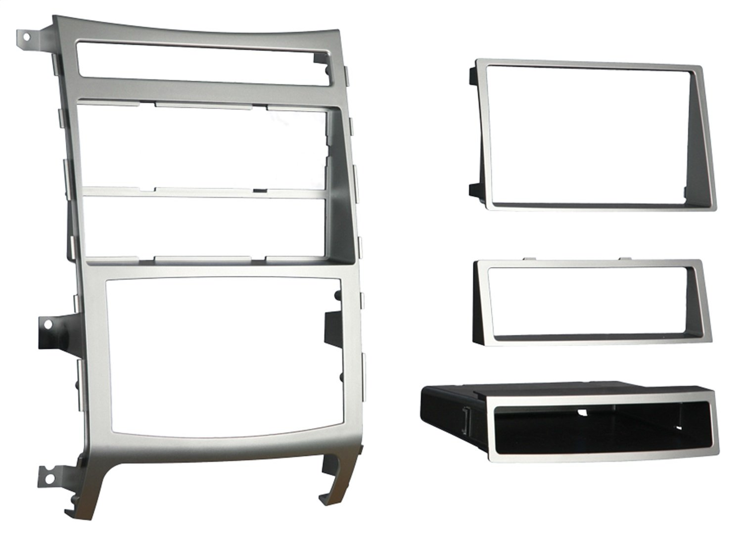 Metra 99-7335S Single or Double DIN Installation Dash Kit for 2007-2009 Hyundai Veracruz with Automatic Climate Control Only (Silver) Metra Electronics Corporation