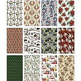 ADVANTUS CORPORATION Idea-Ology Worn Wallpaper 5''X8'' 24/Pkg-Christmas, 12 Designs/2 Each