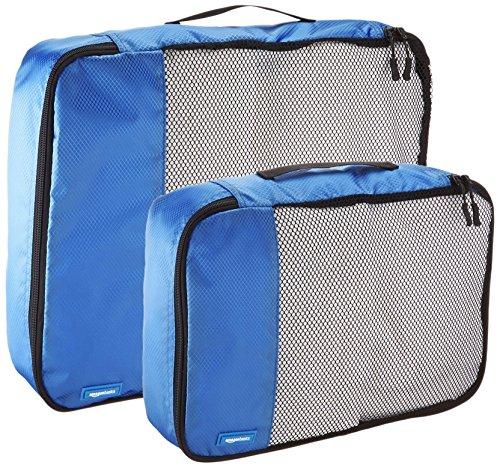 61tTBy7 5nL Amazon Basics Kleine Kleidertaschen, 4 Stück, Blau