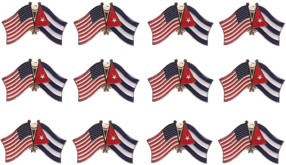United States of America /& Florida Double Friendship Table Flag Set