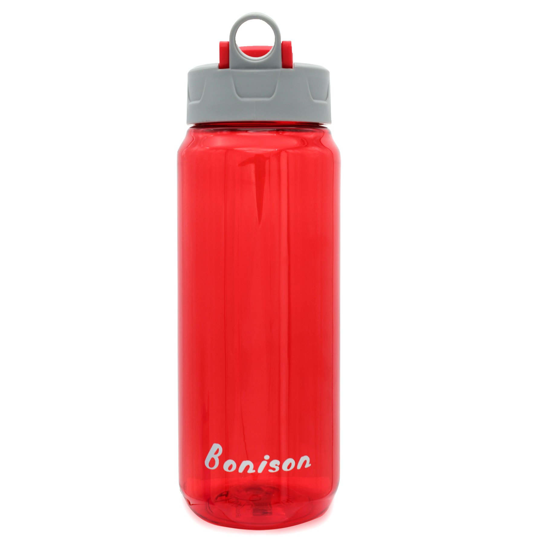 Clearance Sale-25 Oz Shake Bottle With Flip Top Spout Mixer Ball To Mix Protein Powder Easy Shaker Water Bottle (Red)