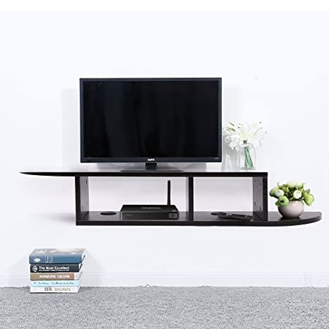 Floating Shelves For Entertainment Center Unique Amazon 60 Tier Floating Shelf Wall Mount TV Console Media Stand