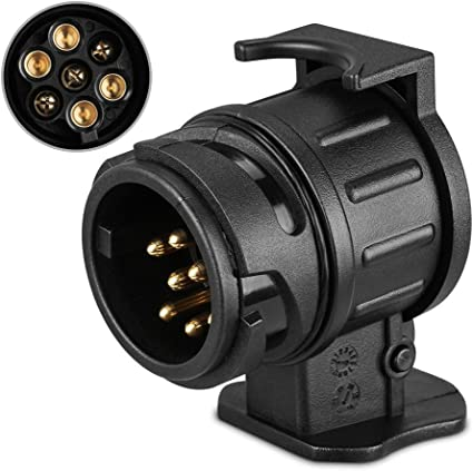 Anpro /étanche 7/vers 13/Broches Plug Remorque Caravane /électrique Adaptateur Prise de Barre de remorquage