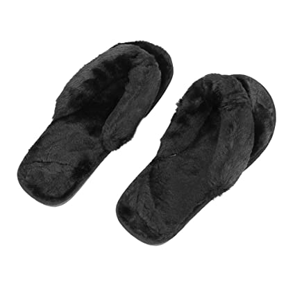 35a89bc0512e QCHOMEE Women s Fashion Plush Flip-Flops Cozy Memory Foam Spa Plush Bedroom  Slippers Indoor Slide