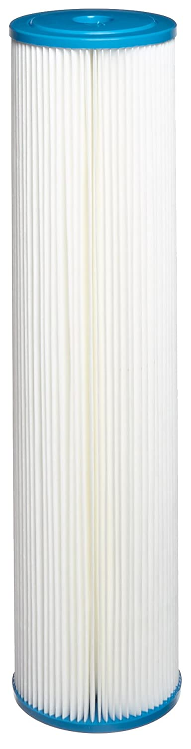 """Hydronix SPC-45-2005 Polyester Pleated Filter 4.5"""" OD X 20"""" Length, 5 Micron"""