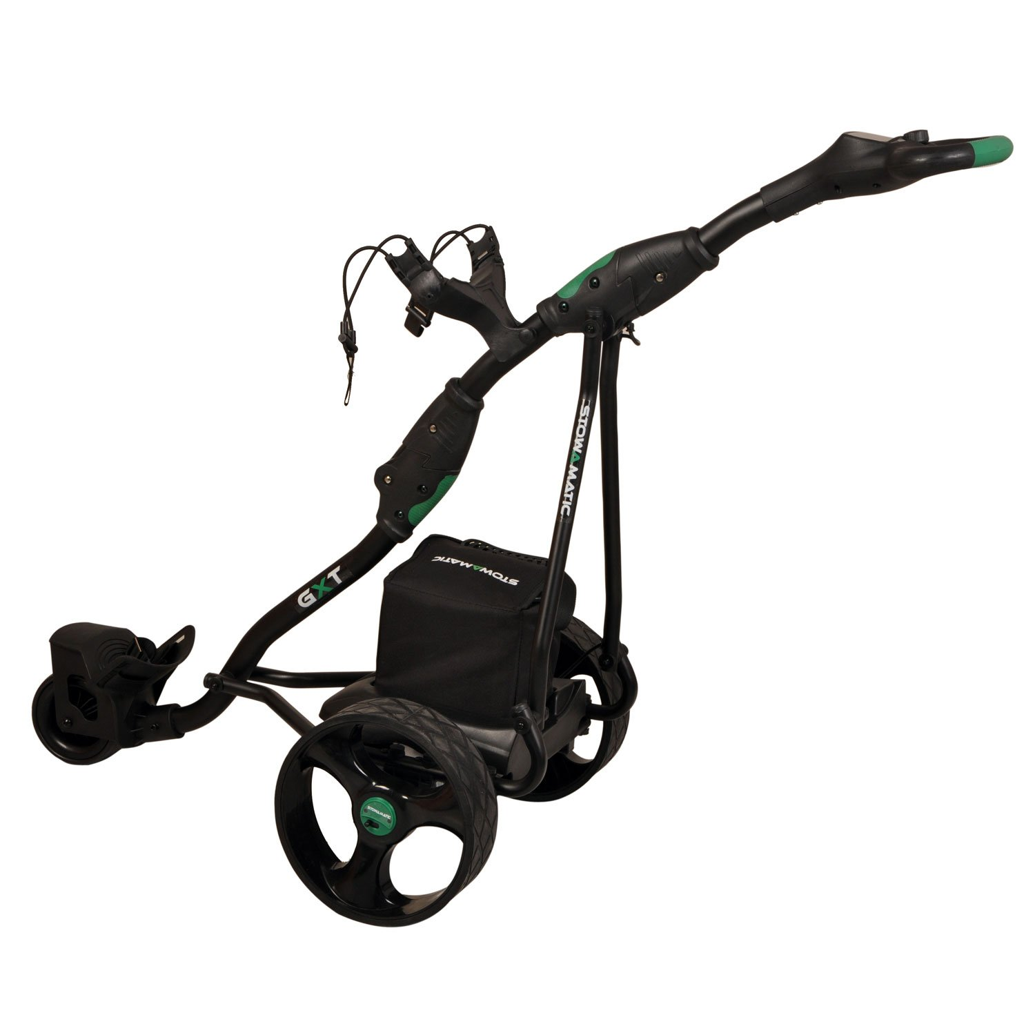 Stowamatic GXT 36 Hole Electric Golf Trolley with Carry Bag, Raincover,  Scorecard & Drinks Holder BLACK: Amazon.co.uk: Sports & Outdoors