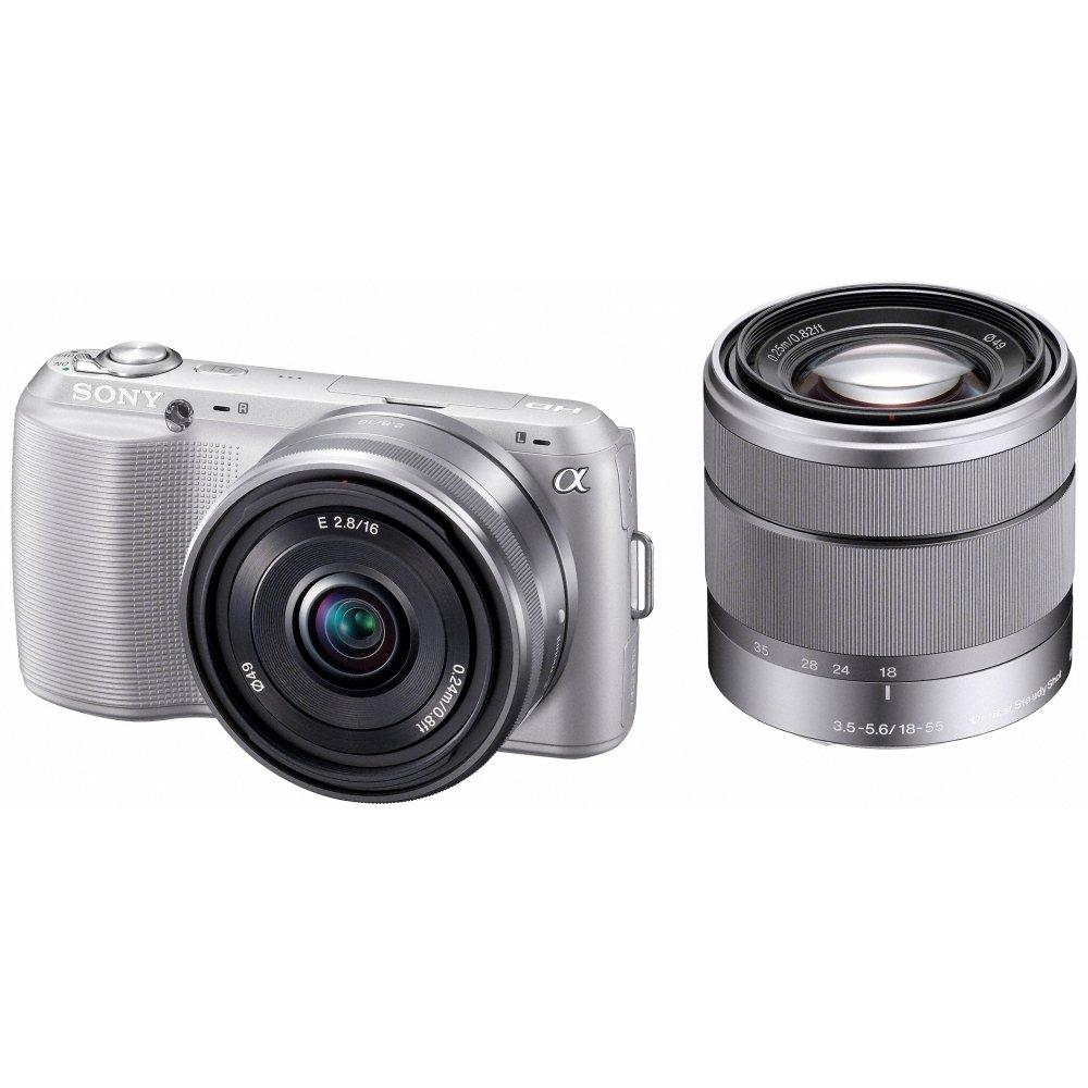ソニー SONY デジタル一眼カメラ α NEX-C3 ダブルレンズキット シルバー NEX-C3D/S   B0055LJ8M0