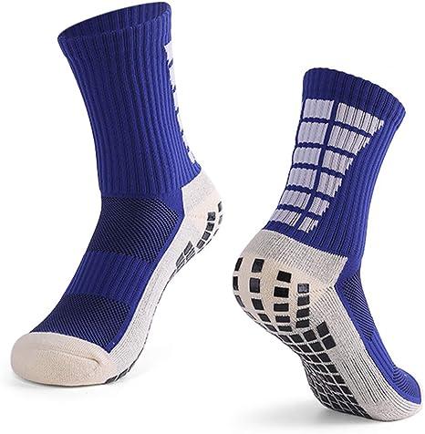 Explopur Calcetines Antideslizantes de fútbol para Hombre Calcetines Deportivos de Tubo Alto de fútbol: Amazon.es: Deportes y aire libre