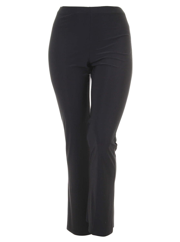 Leggings mit leichtem Schlag in schwarz in Übergrößen (L, M, XL) von Yoek