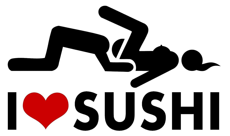 Amazon com sushi oral sex i love sticker heart funny humor prank decal vinyl bumper decor car graphic wall home kitchen