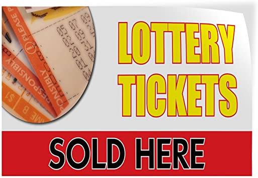 54inx36in, Decal Sticker Multiple Sizes Lottery Tickets Sold Here Business Style U Business Lottery Tickets Sold Here Outdoor Store Sign White
