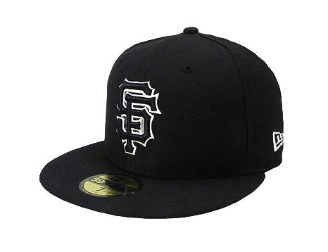 fc7ffcc2b4413 New Era MLB cap San Francisco Giants 59fifty men s headwear black white fitted  hat (