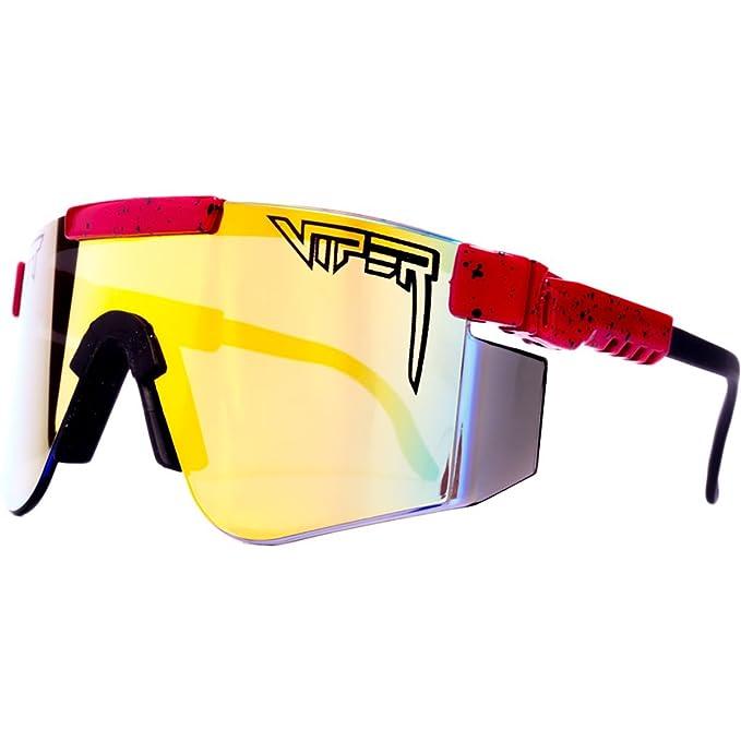 Pit Viper espejo lente gafas de sol - Rojo - : Amazon.es ...