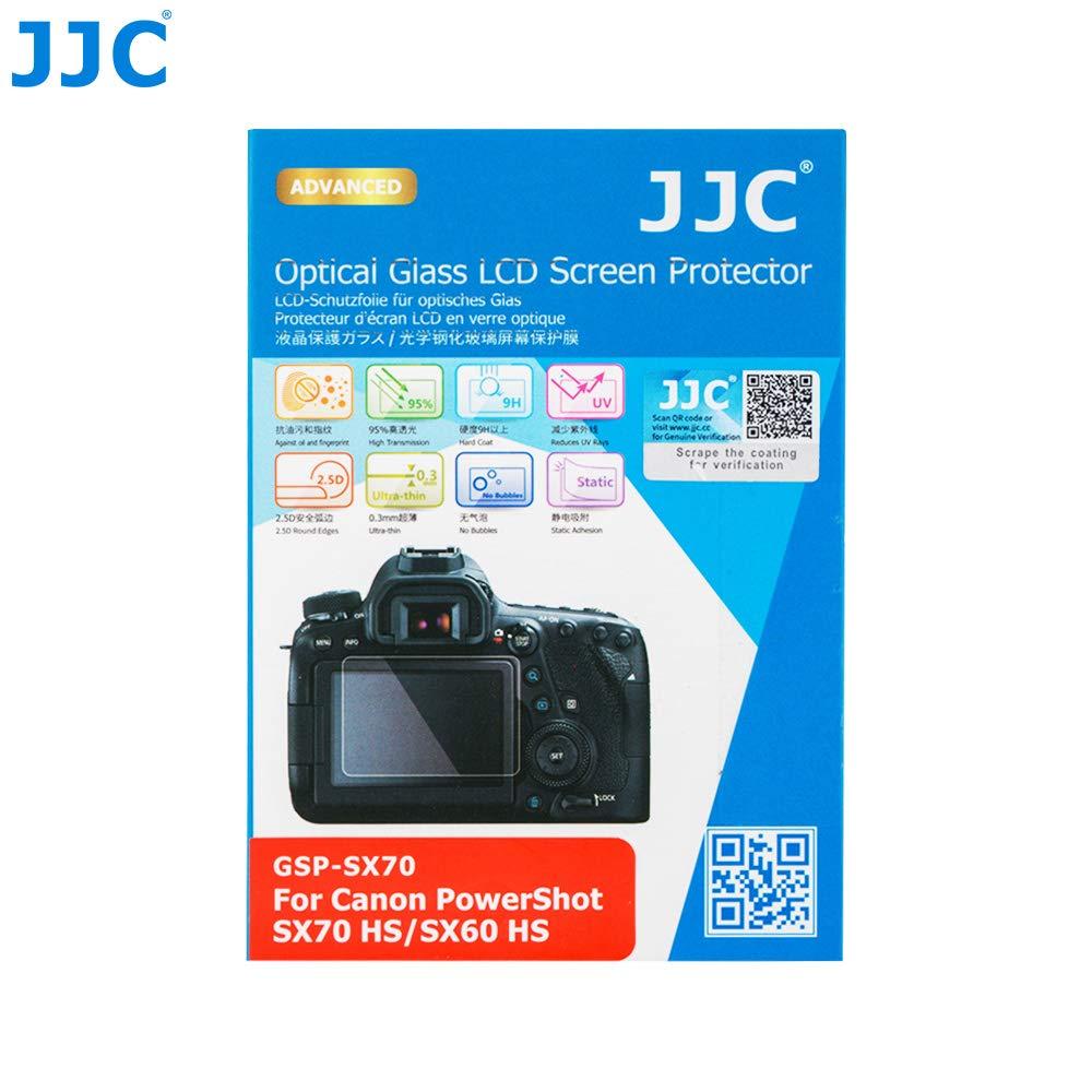 JJC GSP-SX70 - Protector de Pantalla LCD para Canon PowerShot SX70 HS, SX60 HS (Cristal Templado, Ultrafino, 9H, 2,5D): Amazon.es: Electrónica