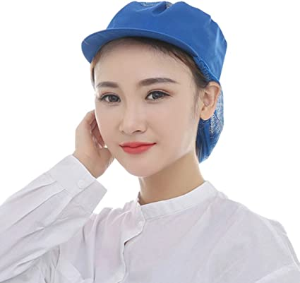 Women/'s Ladies Trilby Hat with Net Snood Lightweight Kitchen Catering Staff Cap