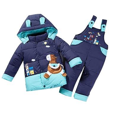 1679ef13b Amazon.com  M A Baby Girls Boys 2-Piece Snowsuit Hooded Winter Coat ...
