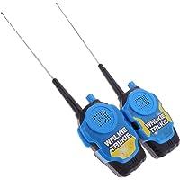 HOMYL 2PCS Portable Walkie Talkie Children Boys Game Toy Two-Way Radio Interphone Intercom Kids Educational Camping Hiking Toys Blue
