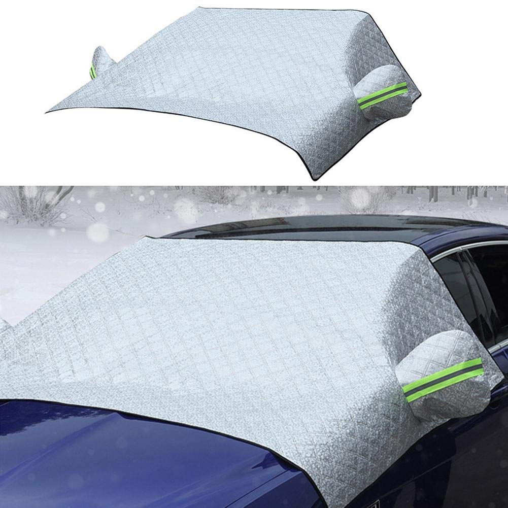 Auto Schneeschutz Auto Windschutzscheibe Schneeschutz Sonnenschutz Schneeschutz Frost und Eisschutz f/ür PKW LKW Lieferwagen und SUV f/ür den Winter im Freien