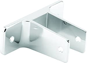 Sentry Supply 656-6350 Two Ear Wall Bracket, for 3/4 in. Panels, Zinc Alloy, Chrome Plated Finish, Pack of 1