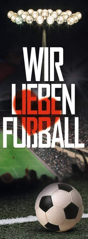 Autoaufkleber Sticker VfB Stuttgart Aufkleber 3D Logo farbig Plus Lesezeichen Wir lieben Fu/ßball