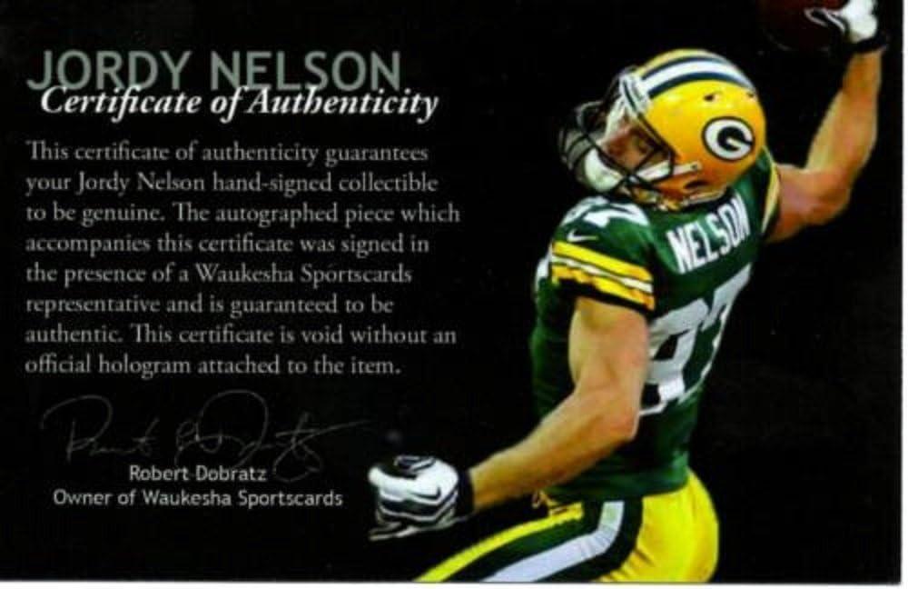 JSA JORDY NELSON SIGNED FULL SIZE AUTHENTIC PACKERS HELMET