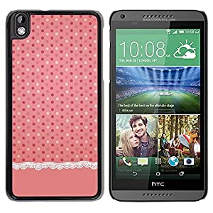 Paccase / SLIM PC / Aliminium Casa Carcasa Funda Case Cover para - Dot Pink Fabric Linen Pattern - HTC DESIRE 816