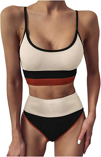 Happy Sailed Women Push Up Bikini Two Piece Swimsuits Padded Swimwear Bathing Suits
