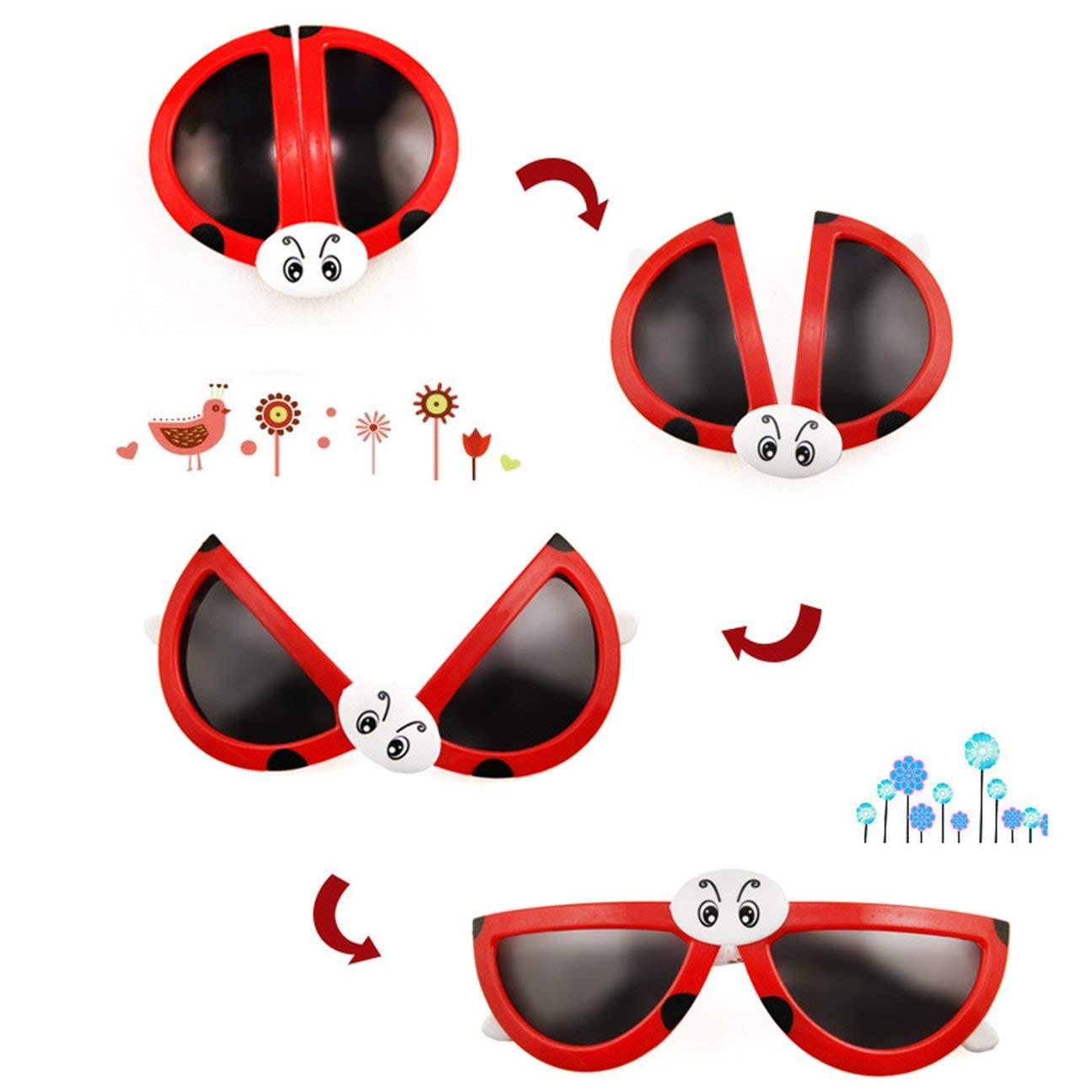 MachinYesity Cute Fashion Pieghevole Coccinella Occhiali da Sole deformit/à Puzzle Toy Baby Toys Costruzione Flessibile Regalo di Compleanno per Bambini Casuali
