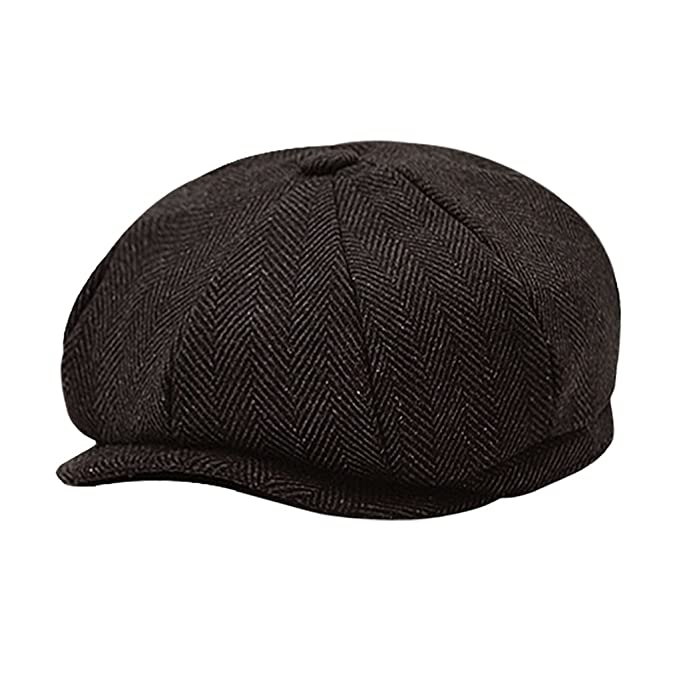 1ac168492cd Classic 8 Panel Wool Tweed Newsboy Gatsby Ivy Cap Golf Cabbie Driving Hat