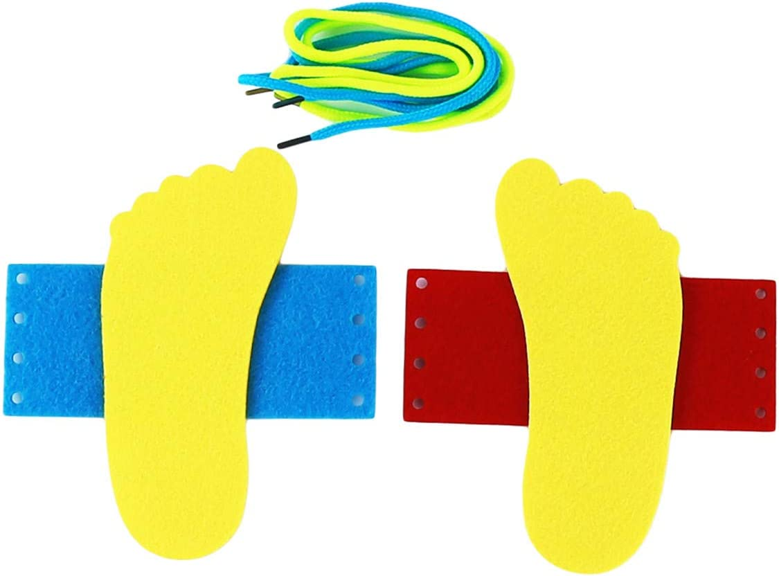 EJY Learn to Lace Tie Shoes Practice Lacing Learning Shoe Children Shoelace Educational Active Toy