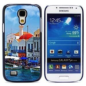 Hu Xiao Beautiful Greece Corner Postcard Design Hard JSBxfPKETuI case cover for Samsung Galaxy S4 Mini