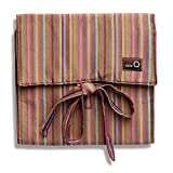 della Q Combo Sock Knitting Case for Double Point & Circular Knitting Needles; 016 Brown Stripes 135-2-016