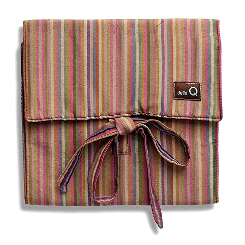 della Q Combo Sock Knitting Case for Double Point & Circular Knitting Needles; 016 Brown Stripes 135-2-016 by della Q (Image #1)