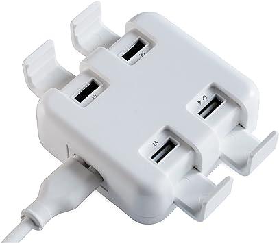 FeinTech NLG00500 Cargador cuádruple USB con Soporte Smartphone ...