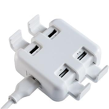 FeinTech NLG00500 Cargador cuádruple USB con Soporte ...