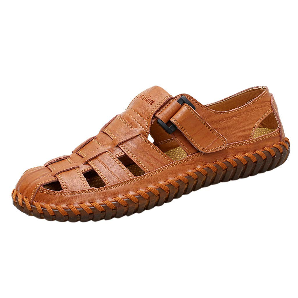 ZOMUSAR Shoes for Men, Men's Summer Fashion Trend Beach Casual Comfort Wild Sandals Brown by ZOMUSAR