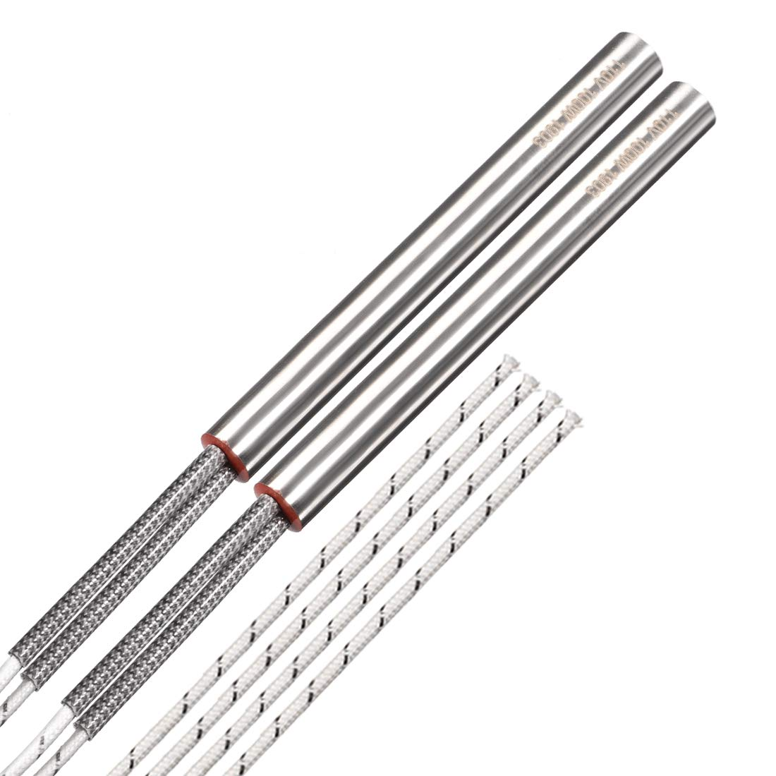 uxcell 2PCS Cartridge Heater AC 110V 100W Electric Hot Rod Stainless Steel Heating Element Replacement