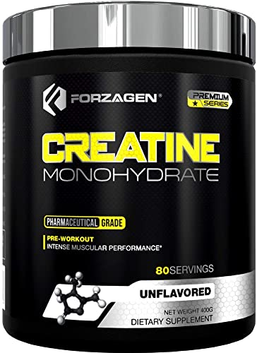 Forzagen Creatine Powder Monohydrate – Workout Supplements No More Pills, Capsules Best Creatine Unflavored For Muscle Growth Supplements For Men Women Organic Creatine monohydrate