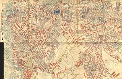 Map Of London 1900.Southwark Charles Booth Poverty Map Dulwich Camberwell Peckham