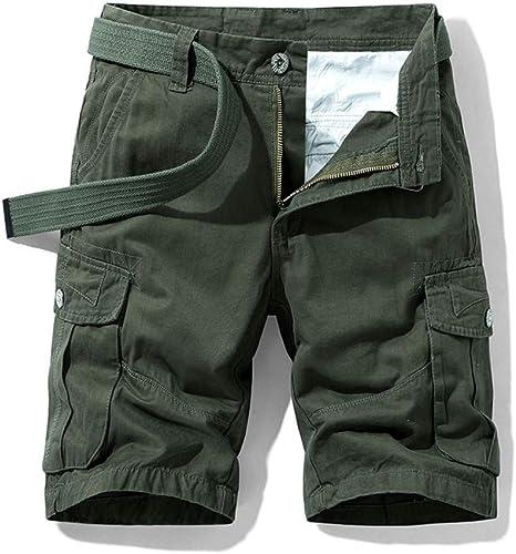 NGRDX&G Bermuda Pantalones Cortos Holgados De Carga Multibolsillos ...