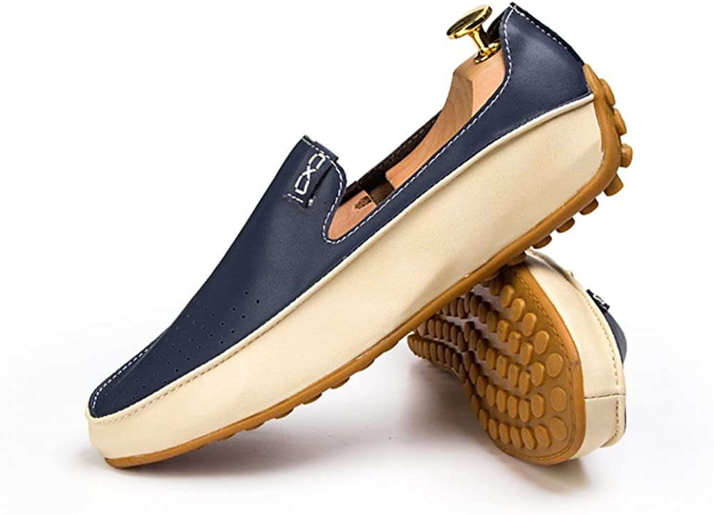 Go Tour Mens Casual Punching Penny Loafer Leather Moccasins